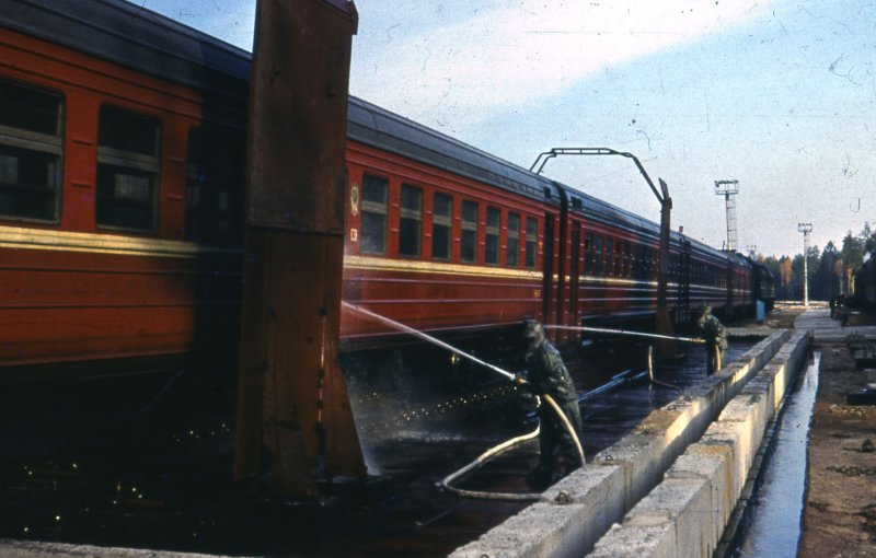 Decontamination post on the Southwest Railway, 1986