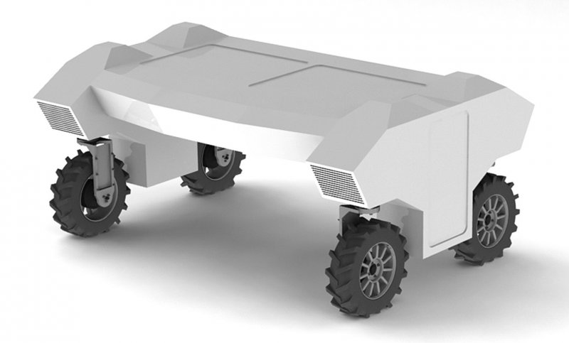 3D-модель автономного робота-трактора для обприскування в сільському господарств- FLIbot