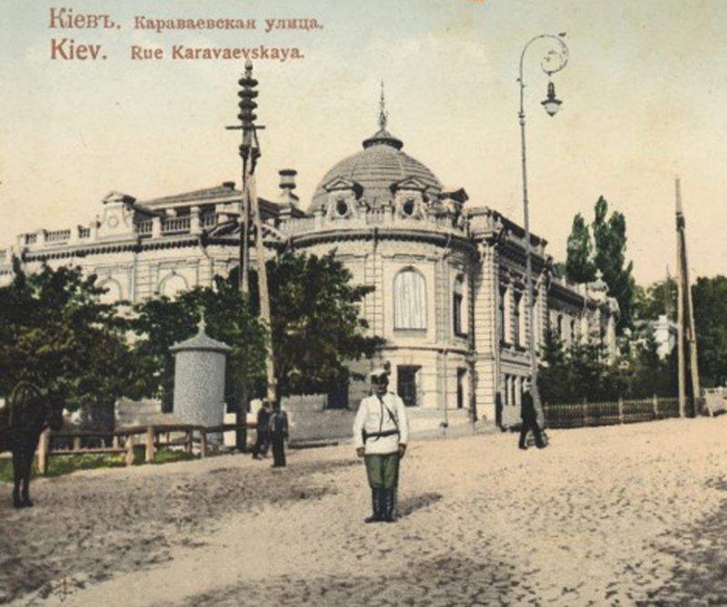 Особняк О.Н.Терещенка на перехресті вул. Караваєвської і Кузнецької, 1900 р.