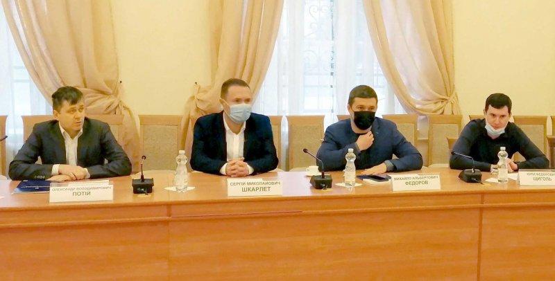 Зліва направо Олександр Потій, Сергій Шкарлет, Михайло Федоров, Юрій Щиголь
