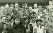 Космонавти П.Р. Попович та В.М. Жолобов на відкритті Музею історії космонавтики, 27 квітня 1991 р.