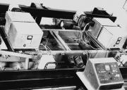 Фото 4. Макет транспортного екіпажу з 4-точковими системами електромагнітного підвісу та горизонтальної стабілізації  масою 2500 кг (корпус -20 КПІ, 1981 р.)