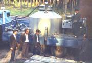 Група дезактивації води біля мобільної установки, 1986 р.