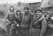 Екіпаж танка Лідіце 1-ої окремої Чехословацької бригади, який першим увірвався в Київ, 1943 р.