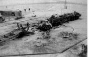 Залишки ракети Р-16 після аварії 24 жовтня 1960 р.
